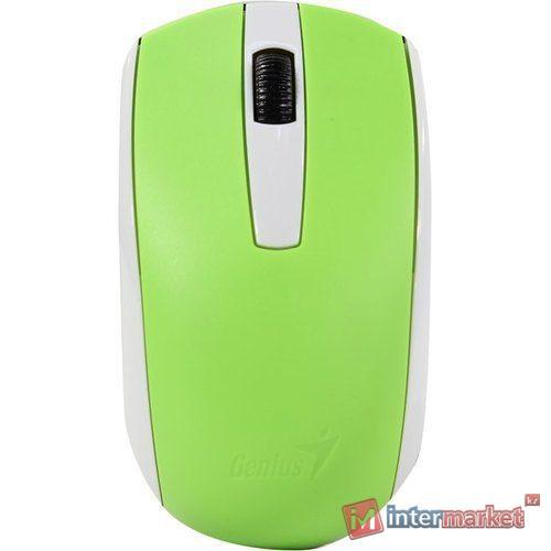 Беспроводная оптическая мышь Genius ECO-8100 Green 31030004404