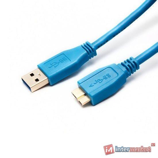 Кабель USB, Ship US007-1.2B, 1.2m, blue, box