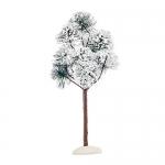 Декорация Деревце зеленое заснеженное Горная сосна 23см