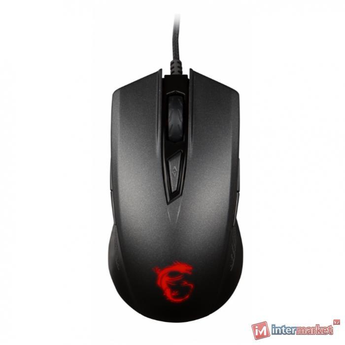 Мышь MSI Clutch GM40 Black GAMING Mouse USB2.0/кабель 2м/Вес 129г./Черный