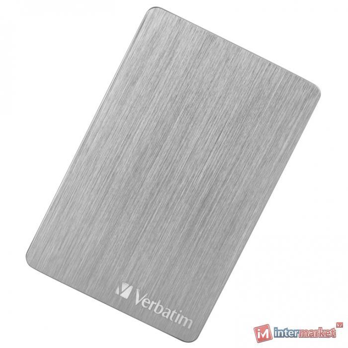 Внешний HDD Verbatim Store'n'Go ALU Slim 2 ТБ, серебристый